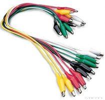 PASCO cabluri cu clemă de tip crocodil (10 buc)