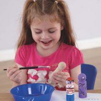 Small World marionete mici din lemn, 20 buc