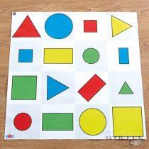 Traseu cu forme, culori și dimensiuni Bee-Bot® și Blue-Bot®