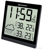 Bresser TemeoTrend JC LCD RC stație meteo (ceas de perete), negru