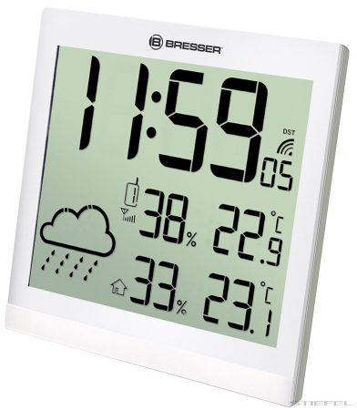 Bresser TemeoTrend JC LCD RC stație meteo (ceas de perete), albă
