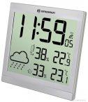 Bresser TemeoTrend JC LCD RCstație meteo (ceas de perete), argintie