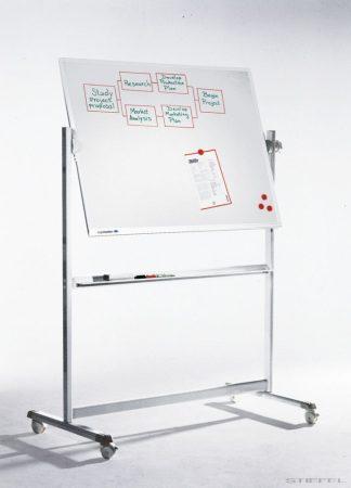 Tablă albă mobilă, rotativă Legamaster PROFESSIONAL  90x120 cm