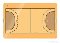 Tablă tactică de handbal Legamaster, 90x120 cm