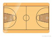 Tablă tactică de baschet Legamaster, 40x60 cm