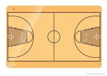 Tablă tactică de baschet Legamaster , 60x90 cm