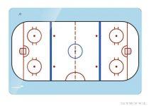 Tablă tactică de hochei Legamaster (mai multe dimensiuni), 30x40 cm