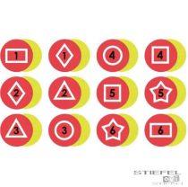 Dezvoltator de memorie- pete tactile roșii (12 buc)