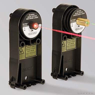 PASCO laser cu diodă roșie - Optică de bază