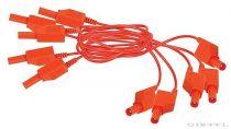 PASCO burkolt piros patch vezeték