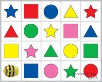 Traseu Bee-Bot culori si forme 1