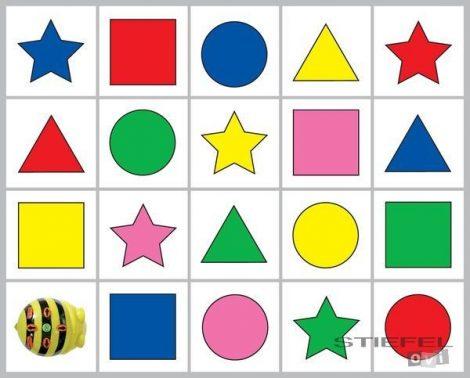 Traseu pentru Bee-Bot- Culori și Forme 1