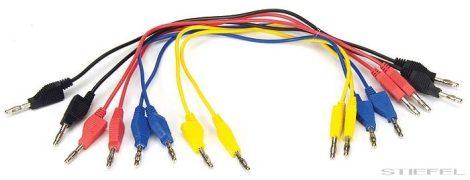 Cablu de măsurare PASCO cu mufă tip banană, 8buc, 30cm