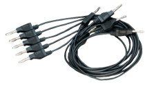 PASCO Cablu de măsurare de tip banană - negru 5buc