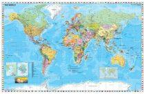 Harta de perete Statele Lumii cu steaguri 140x100 cm