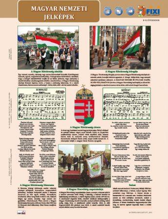 Magyar nemzeti jelképek + Magyar nemzeti ereklyék tanulói munkalap- Simbolurile naționale ale Ungariei+ patrimoniul național maghiar fișă de studiu