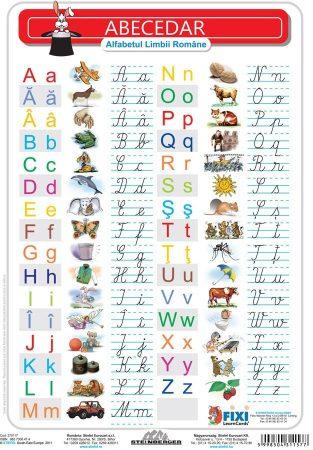 FIXI - Alfabetul Român (verso - liniatură tip 1)