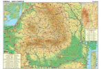 Harta de perete Romania Turistica  sipci lemn