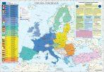 Harta de perete Uniunea Europeană 100x70 cm șipci plastic