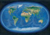 Harta de perete Lumea Panoramică 160x120 cm